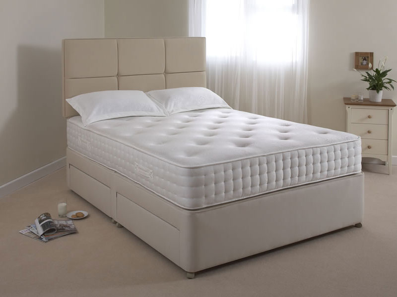 The sleep shop 6ft super king size relyon pocket memory for Super king divan set