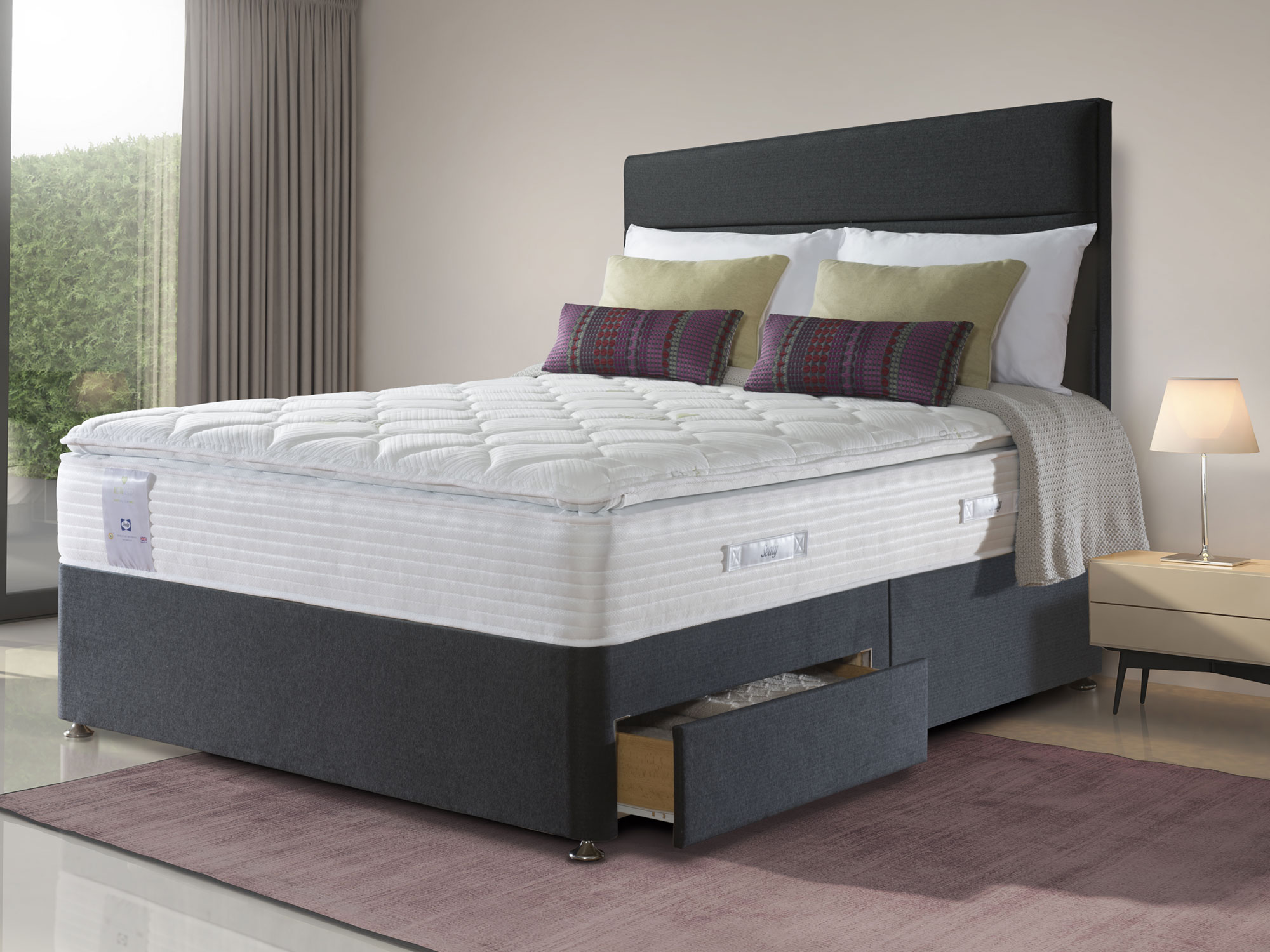 The Sleep Shop 5ft King Size Sealy ActivSleep Geltex ...