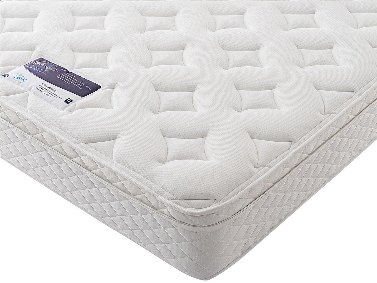 the sleep shop 4ft6 double silentnight miracoil memory. Black Bedroom Furniture Sets. Home Design Ideas