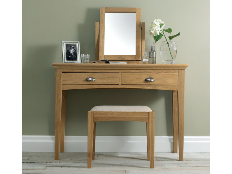 4fceb079e4be Bentley Designs Hampstead Dressing Table in Soft Grey and Pale Oak ...