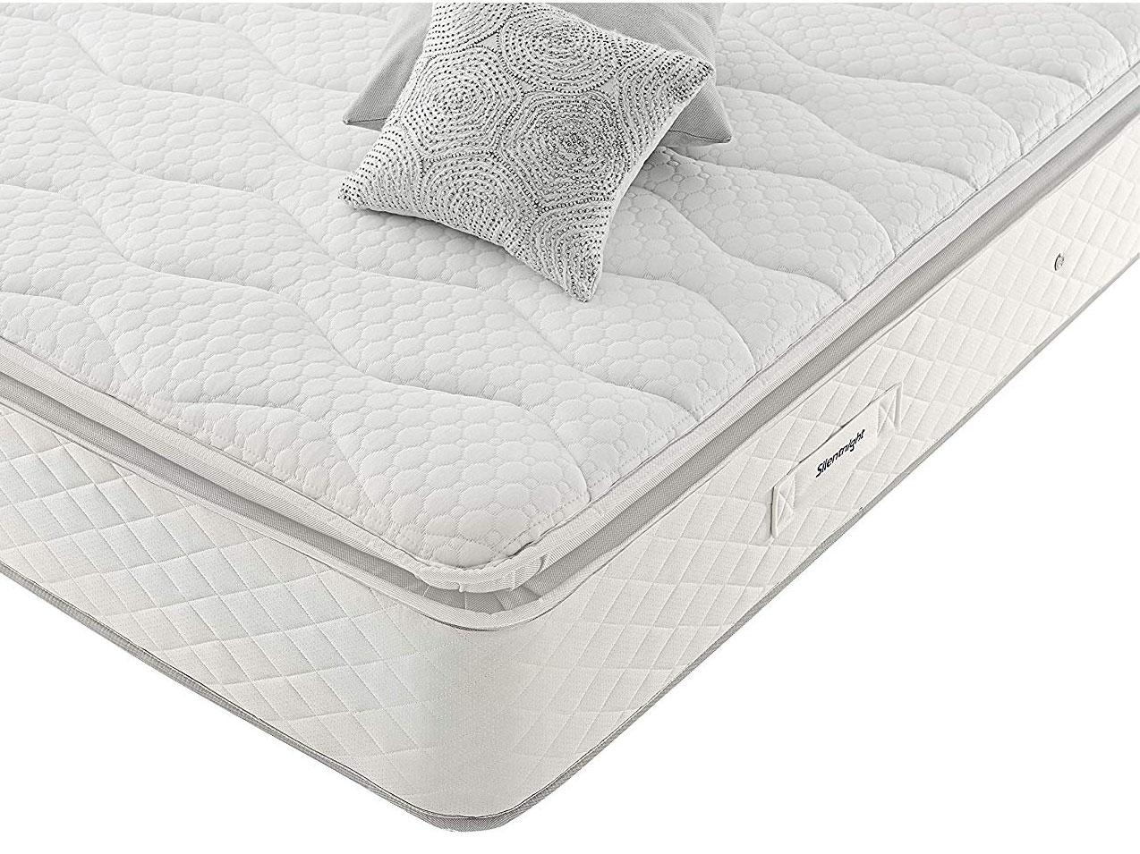 5ft King Size Silentnight Miracoil Geltex Pillow Top