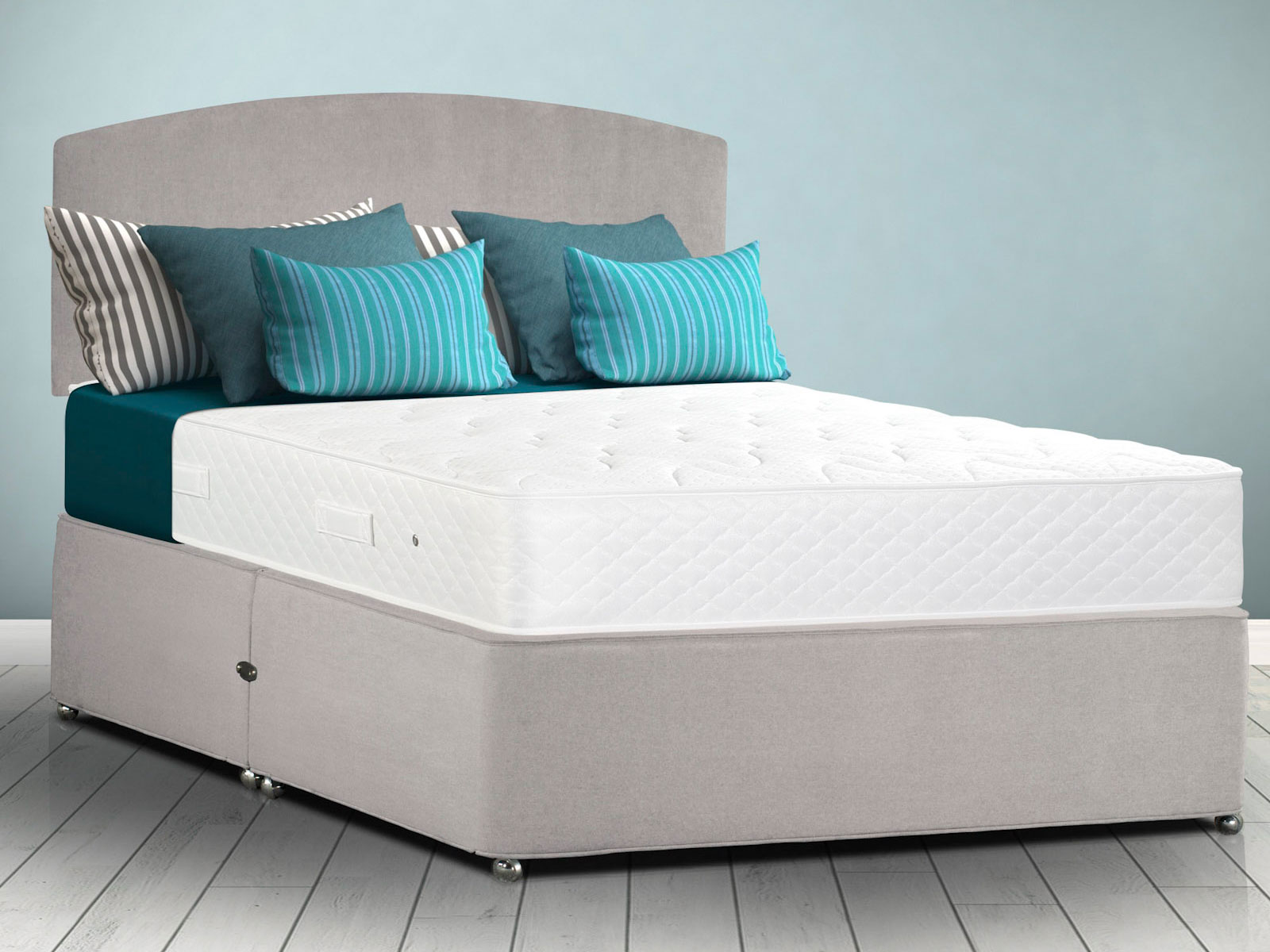 The sleep shop 4ft small double sleepeezee memoryform for Small double divan set