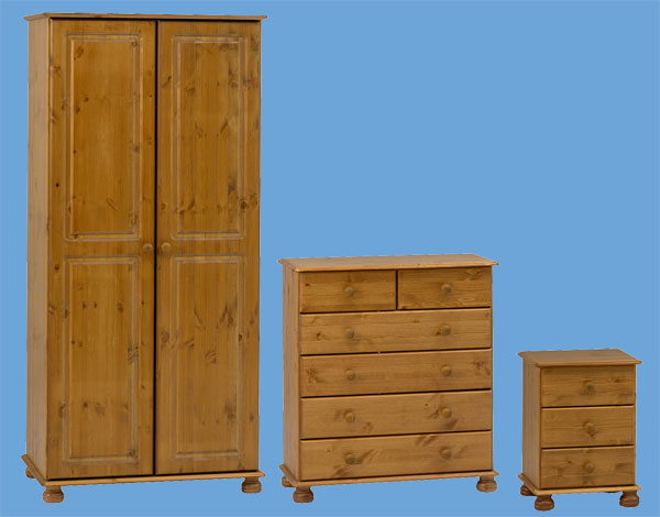 Steens Richmond Bedroom Furniture Package In Pine From The Sleep Shop