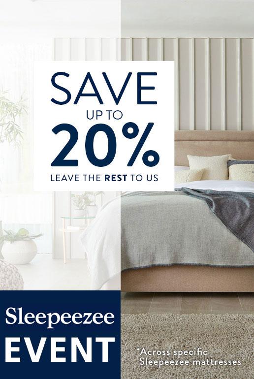 Sleepeezee Event - SAVE 10% - Shop Now